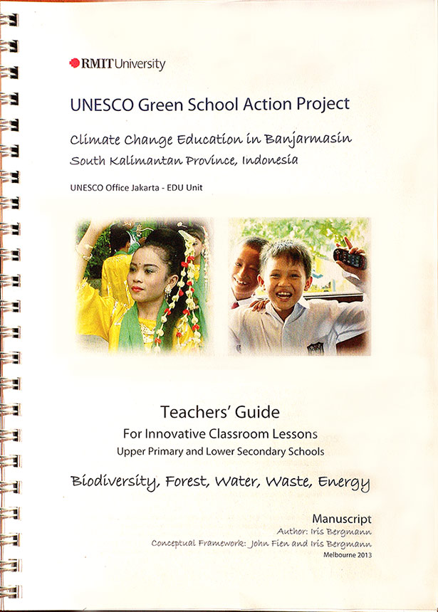 Manuscript: UNESCO Green School Action Project, teaching resources for five themes: Biodiversity, Forests, Water, Waste and Energy.