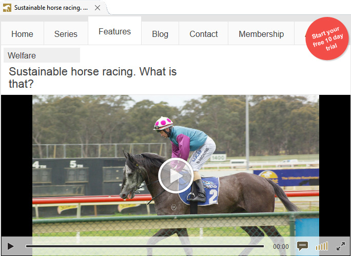 Sustainability, Welfare and Thoroughbred Racing on EponaTV